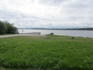 Angling area on the shores of Lough Gara