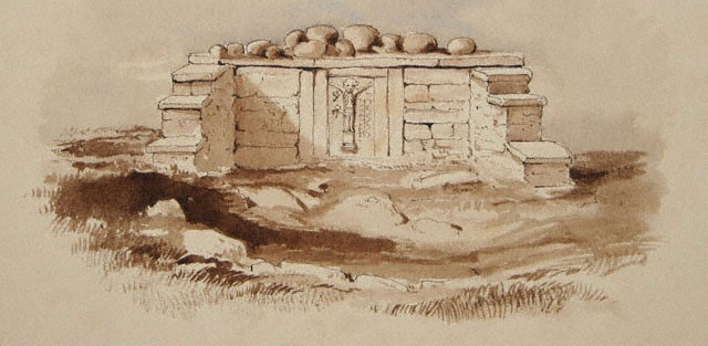 Wakeman drawing of St. Attracta's Holy Well, 1895
