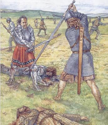 Galloglass and English Knight